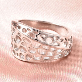 RACHEL GALLEY Lattice Collection - Rhodium Overlay Sterling Silver Ring
