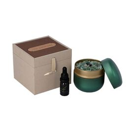 The 5th Season - Pure Jasmine -  Scented Green Jade in Gift Box with Essential Oil