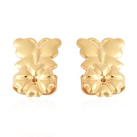 Butterfly Design Lifting Miracle Backs in Gold Plated Silver