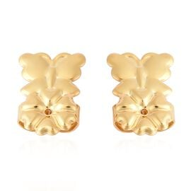 Butterfly Design Lifting Miracle Super Earring Backs in Gold Plated Silver