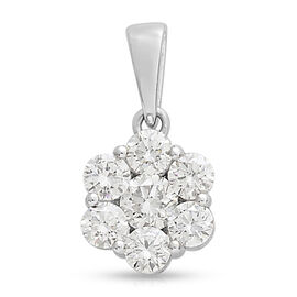 RHAPSODY 1 Carat Diamond Floral Pendant in 950 Platinum IGI Certified VS EF