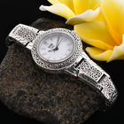 Royal Bali Collection -  EON 1962 Swiss Movement Water Resistant Watch (Size 7.5) in Sterling Silver, Silver wt 44.00 Gms