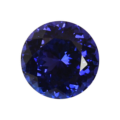 AAAA Tanzanite Round 13x8.86 Faceted 9.06 Ct.
