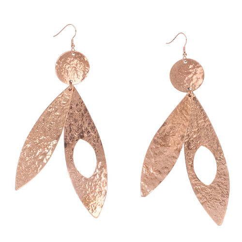 Shiny Hammered Hook Earrings