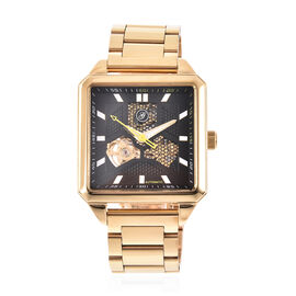 GENOA Automatic Movement 5 ATM Water Resistant Watch with Chain Strap and Butterfly Buckle Clasp in