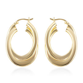 Close Out Deal Creole Hoop Earrings in 9K Gold 4.07 Grams