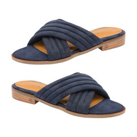 Ravel Sarina Suede Mule Sandals in Navy Colour