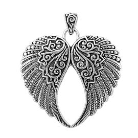 Royal Bali Collection Sterling Silver Angel Wings Pendant, Silver wt 12.69 Gms