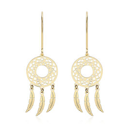 Dream Catcher Earrings in 9K Yellow Gold