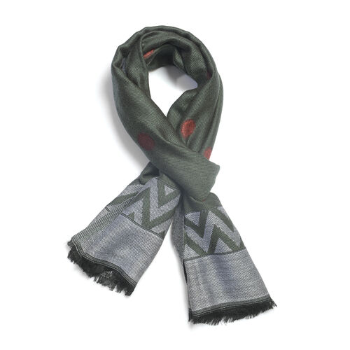 Black and Grey Colour Scarf (Size 185x70 Cm)