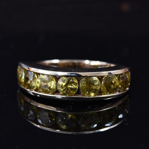9K Yellow Gold Sava Sphene (Rnd) Half Eternity Band Ring 2.25 Ct.