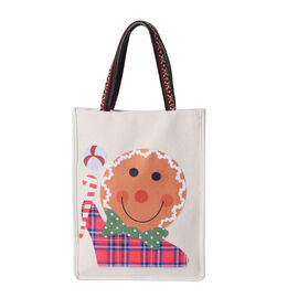 Tote Bag with Child Pattern (Size 26x8x32 Cm) - Beige