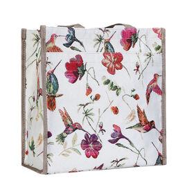 SIGNARE  - Tapestry Collection -Hummingbird Multi Compartment Shopper (30x30x13.5cm)