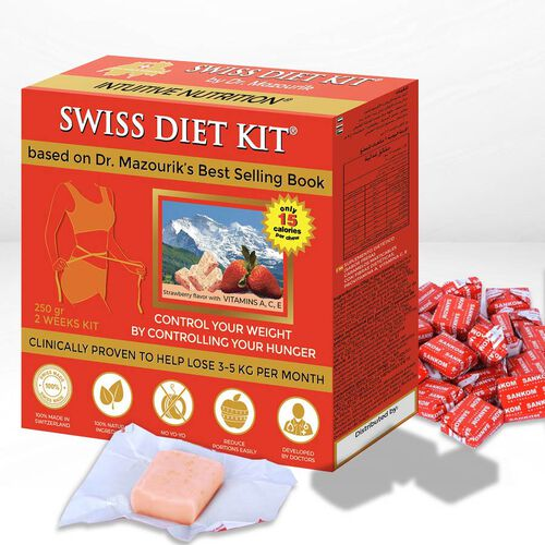 SWISS DIET KIT - Strawberry Flavour Dietary Candies Refill Pack (250g) - 84 Pieces