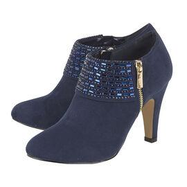 Lotus Ronna Zip-Up Heeled Shoe Boot - Navy