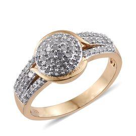 Diamond (Rnd) Ring in 14K Gold Overlay Sterling Silver 0.500 Ct.