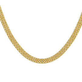 Hatton Garden Close Out 9K Yellow Gold Bismark Necklace (Size 18), Gold Wt. 10.47 Gms
