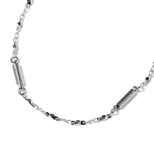 Silver Tone Necklace (Size 20 with 2 inch Extender)
