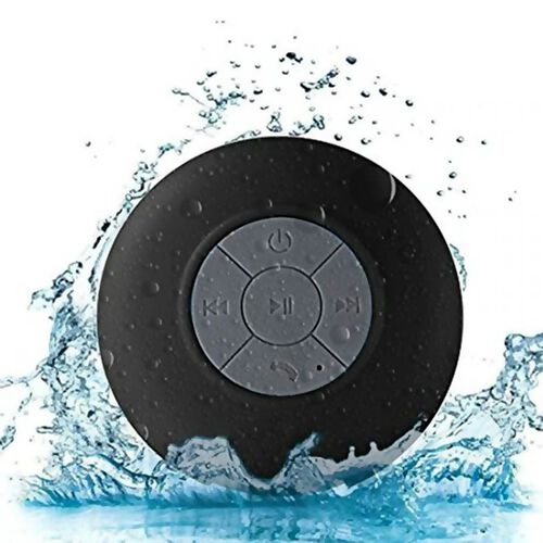 Multi Use Rain / Splash Proof Wireless Bluetooth Stereo Speaker with Built-in Mic - Black