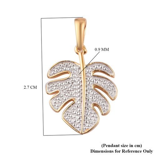 One Time Deal - Diamond Pendant in 14K Gold Overlay Sterling Silver