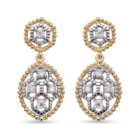 Moissanite Earrings (with Push Back) in Sterling Silver