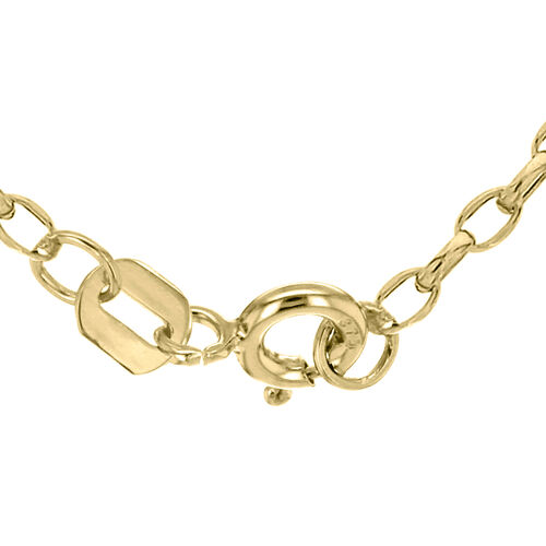 9K Yellow Gold Oval Belcher Chain (Size 24).