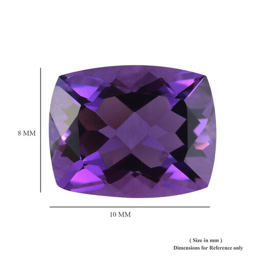 AAA Mashamba Amethyst Cushion 10.15x8.17x5.95 Faceted 2.50 Cts