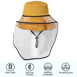 Bucket Protection Hat with Detachable Safety Protective Face Eye Shield Screen (Perimeter: 57Cm) - O