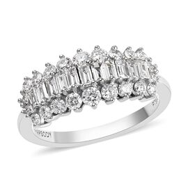RHAPSODY 950 Platinum IGI Certified Diamond (Rnd and Bgt) (VS/E-F) Ring 1.00 Ct.