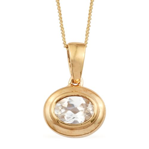 2.50 Ct Natural Cambodian Zircon Solitaire Pendant with Chain and Stud Earrings Set in Gold Plated Silver