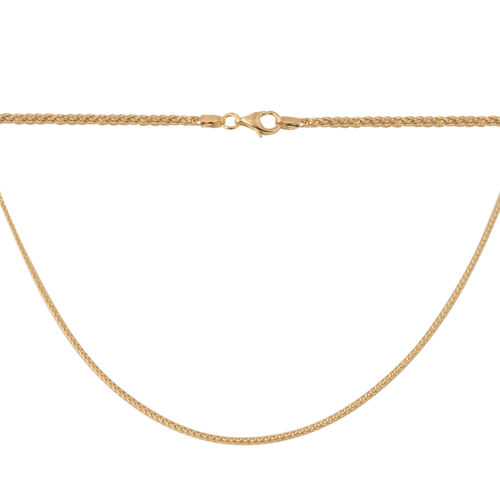 9K Yellow Gold Spiga Chain (Size 20), Gold wt. 2.64 Gms