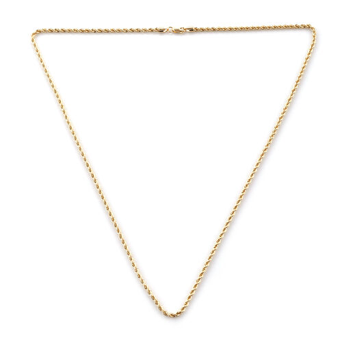 Royal Bali Collection 9K Yellow Gold Rope Necklace (Size 20)