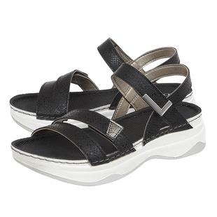 Lotus Palma Open Toe Sandals - Black