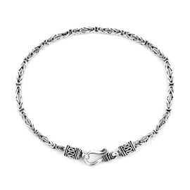 Royal Bali Collection - Sterling Silver Borobudur Bracelet (Size 7.5), Silver wt 10.41 Gms