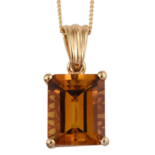Tanzanian Scapolite (Oct) Solitaire Pendant With Chain in 14K Gold Overlay Sterling Silver 4.000 Ct.