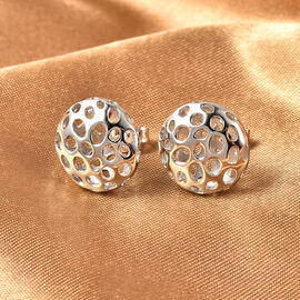 RACHEL GALLEY Lattice Globe Collection- Rhodium Overlay Sterling Silver Earrings (with Push Back)