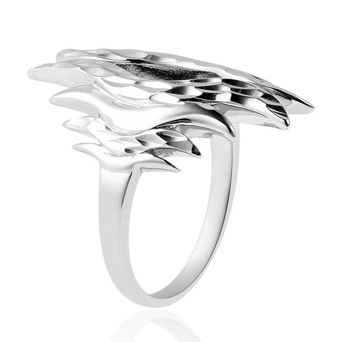 LucyQ Flame Collection - Rose Gold Overlay Sterling Silver Ring