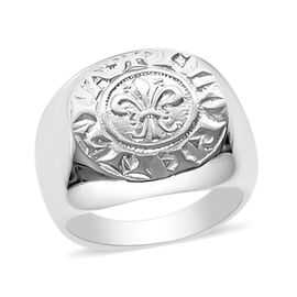 Viale Argento Sterling Silver Lily of Florence Signet Ring