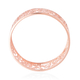 LucyQ Splash Bangle (Size 7.5) in Rose Gold Overlay Sterling Silver