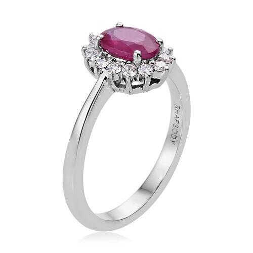 Rhapsody Burmese Ruby (0.95 Ct) and Diamond 950 Platinum Ring  1.150  Ct.