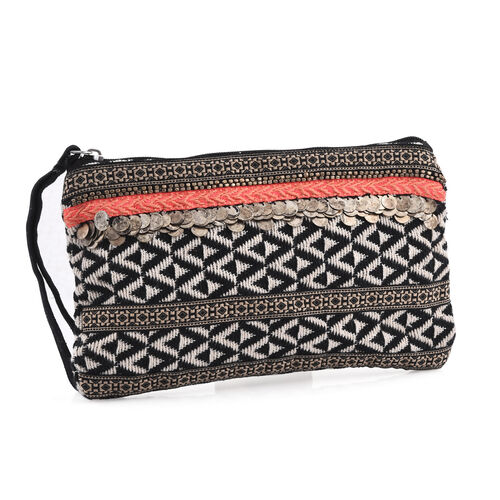 Red, Black and Multi Colour Hand Bag (Size 26x16 Cm)