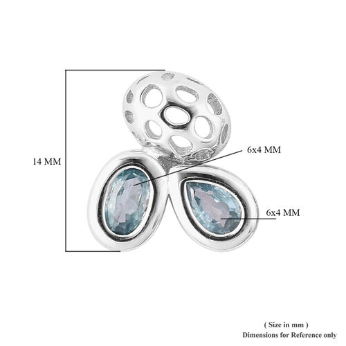 RACHEL GALLEY Misto Collection - Ratnakiri Blue Zircon Earrings (with Push Back) in Rhodium Overlay Sterling Silver 2.78 Ct
