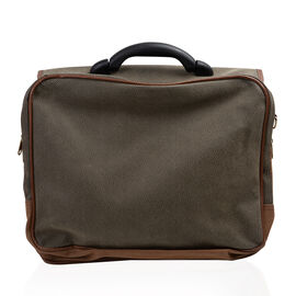 Classic Pebbled Leather Look Laptop/Multipurpose Bag (33x41x23cm) with Adjustable Strap