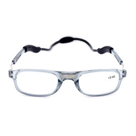 Loopies +2.00 Diopter Magnetic Reading Glasses in White Frame