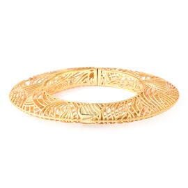 Isabella Liu Sea Rhyme Collection - White Austrian Crystal Bangle (Size 7) in Yellow Gold Overlay St