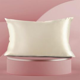 SERENITY NIGHT 100% Mulberry Silk Pillowcase Infused with Hyaluronic & Argan Oil in Champagne(Size 7