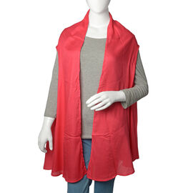 Red Coral Colour Round Vest Free Size