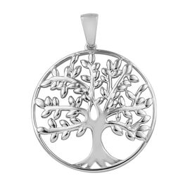 Tree Pendant in Platinum Plated Sterling Silver