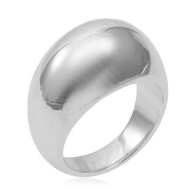 High Finish Band Ring in Rhodium Plated Sterling Silver Ring 6.27 Grams
