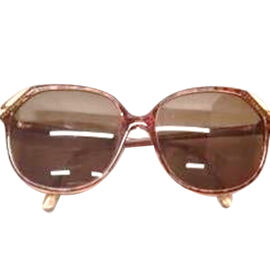 DIOR Ladies Red Oversized Sunglasses with Brown Lenses